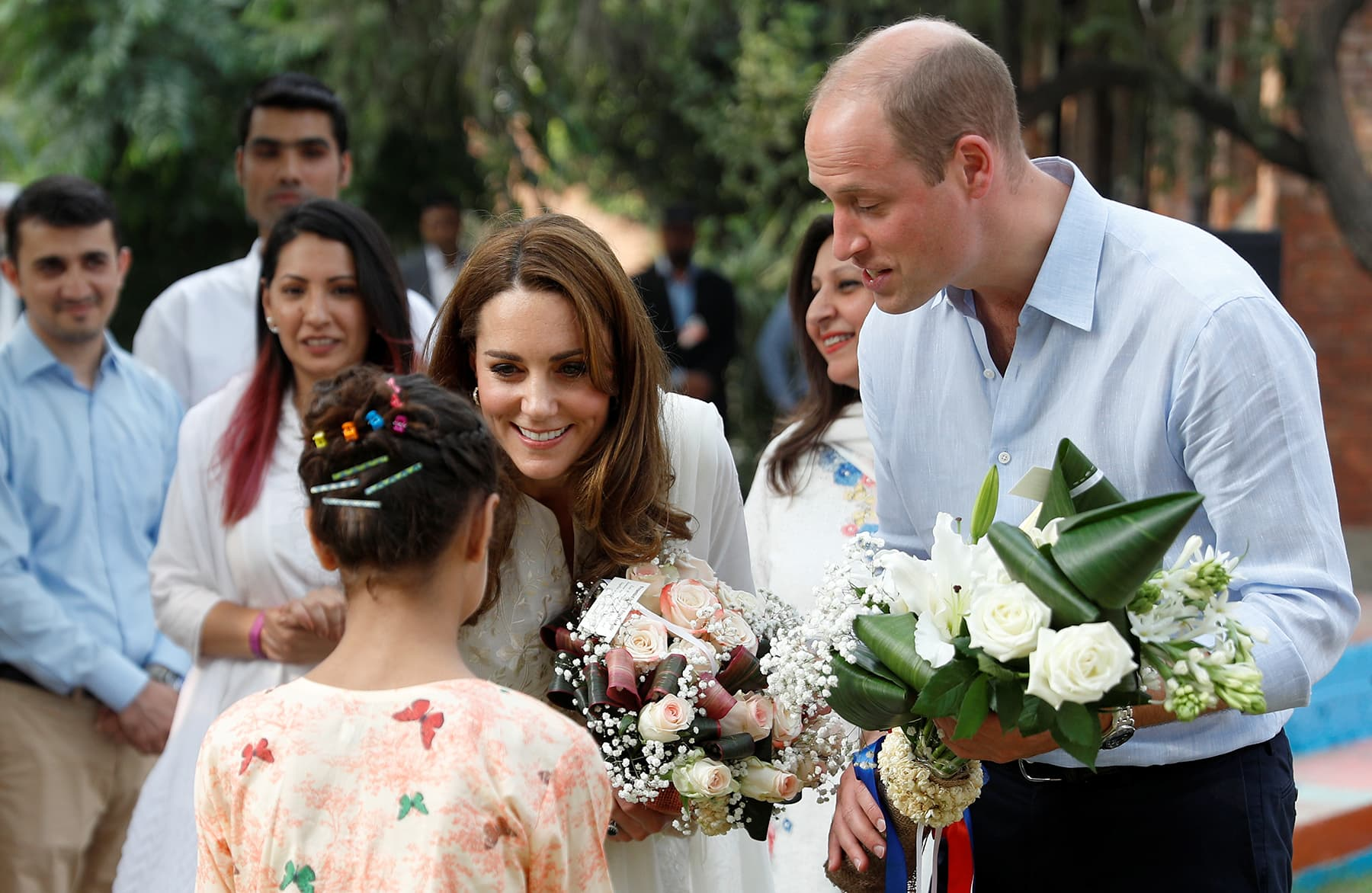 Britain's Prince William and Catherine, Duchess of Cambridge, visit SOS Children's village in Lahore, October 17. — Reuters