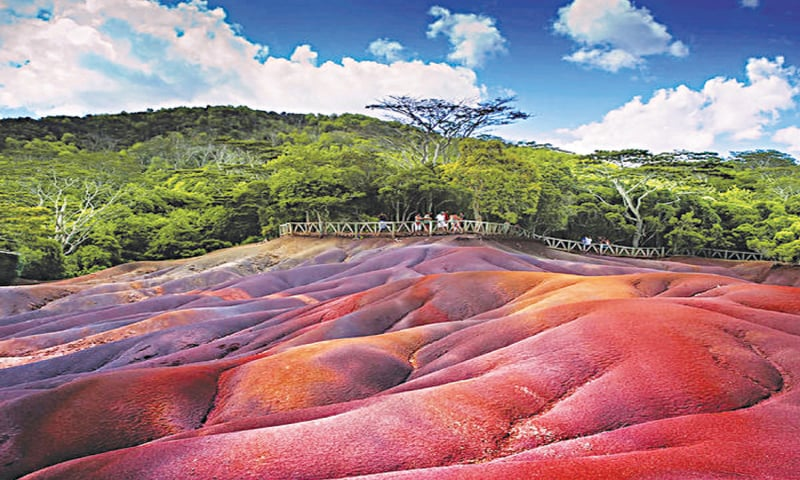 Seven-coloured earth, Chamarel, Mauritius