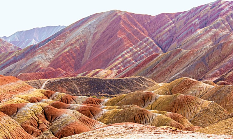 The Rainbow Mountains of China