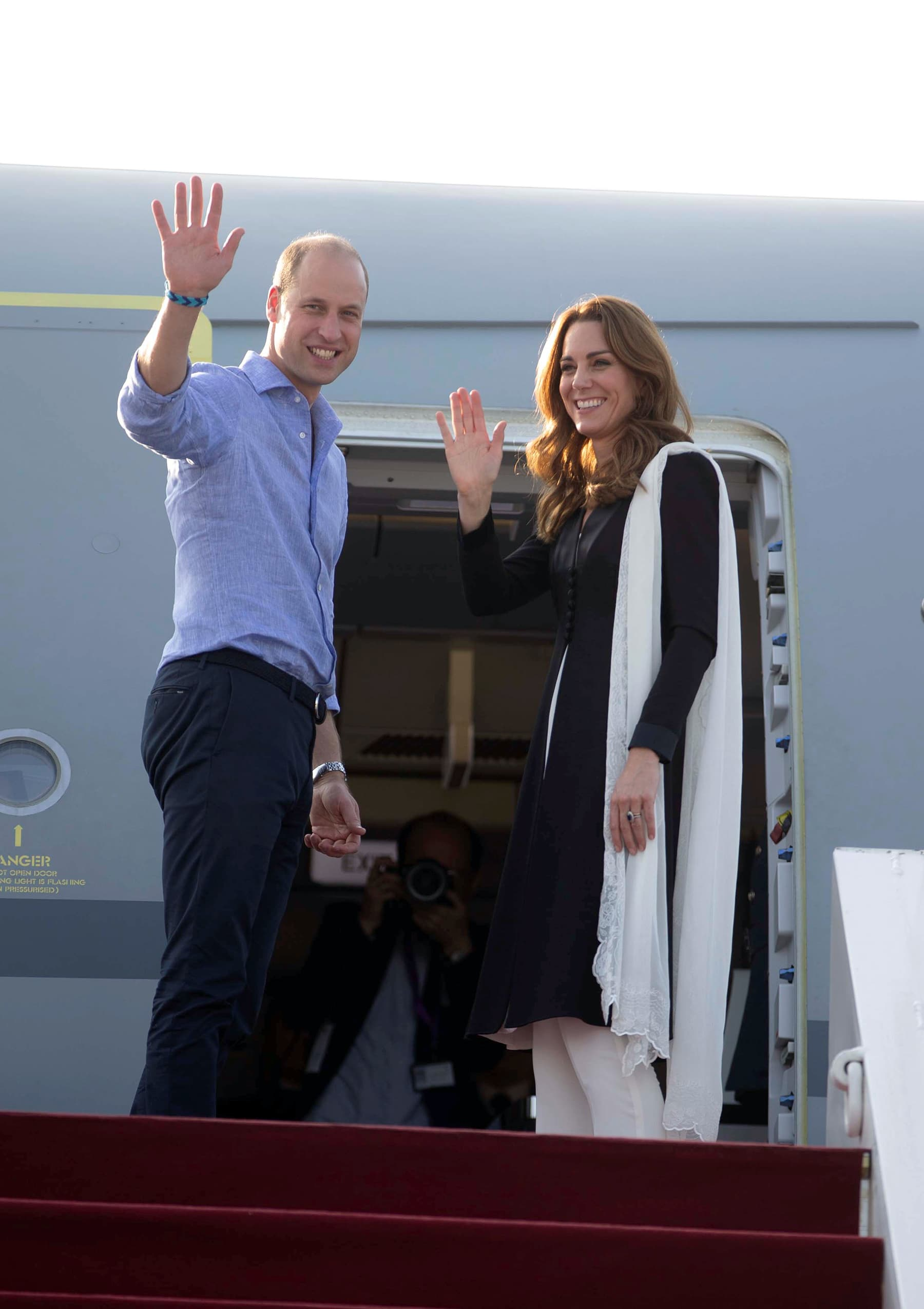 Prince William and Catherine, Duchess of Cambridge, depart from Islamabad for Britain, October 18. — Reuters