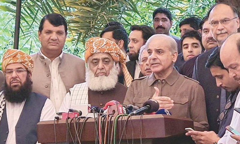 Shahbaz finally lends 'full' support to JUI-F march