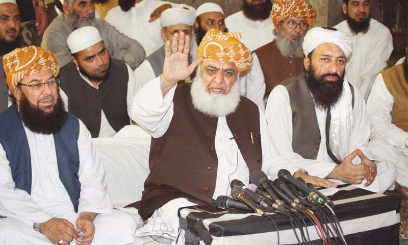Editorial: Govt's sarcastic remarks against Fazlur Rehman have given him more reason to advance on Islamabad