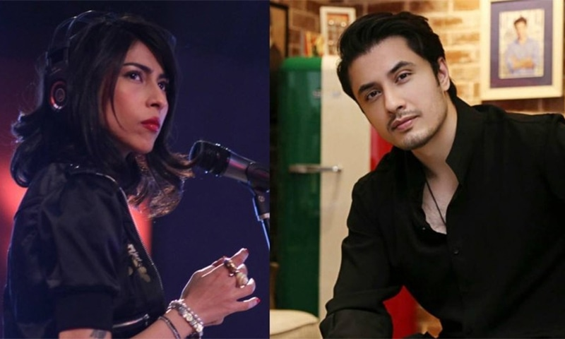 Meesha Shafi's complaint by the ombudsperson about allegations of sexual harassment against singer/actor Ali Zafar states she failed to establish the relationship of employee with a production company that also signed an agreement with the suspect. — Dawn.com/File