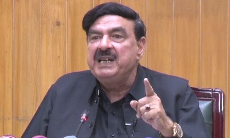 وزیر ریلوے شیخ رشید نے سیاسی معاملات پر گفتگو کی—فوٹو: اسکرین شاٹ