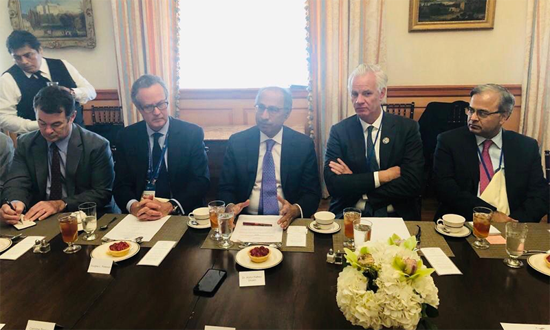 US-Pakistan Business Council hosted a luncheon roundtable in honour of the Pakistan delegation at the US Chamber of Commerce. — Photo by author