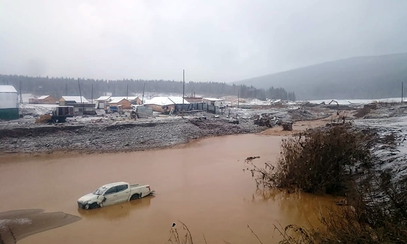 10 killed, 15 injured as dam collapses near Russia's Krasnoyarsk