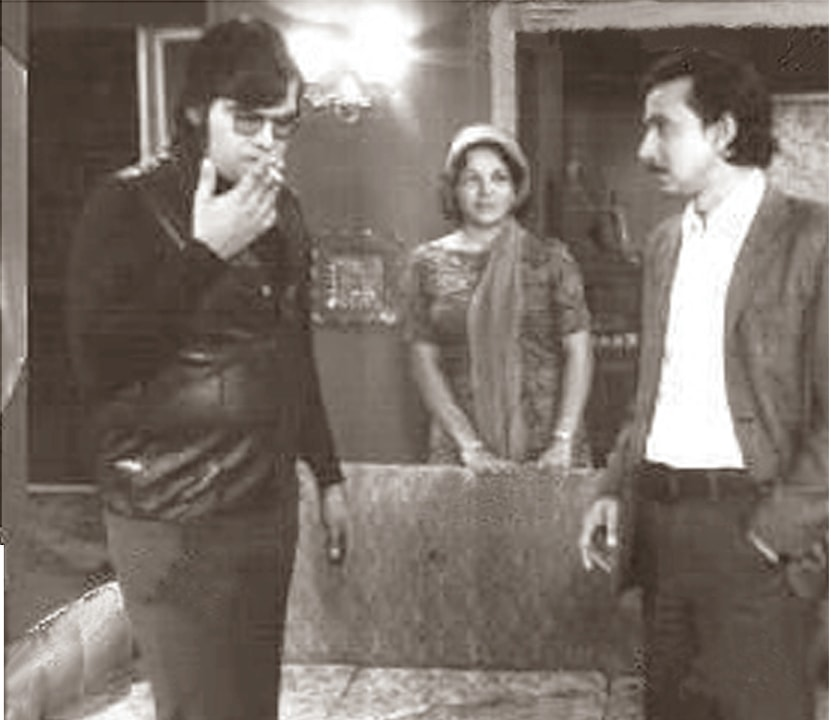 Same scene, different productions: Raju Jamil, Zooni Butt and Saqib Shaikh in 1974