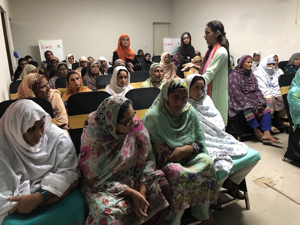 Health and Nutrition session going on in Pindi Bhattian with beneficiaries. — *Photo by author*