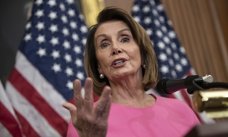 "House Speaker Nancy Pelosi led a group of American lawmakers on a surprise visit to Jordan to discuss ""the deepening crisis"" in Syria amid a shaky US-brokered ceasefire. — AP/File"
