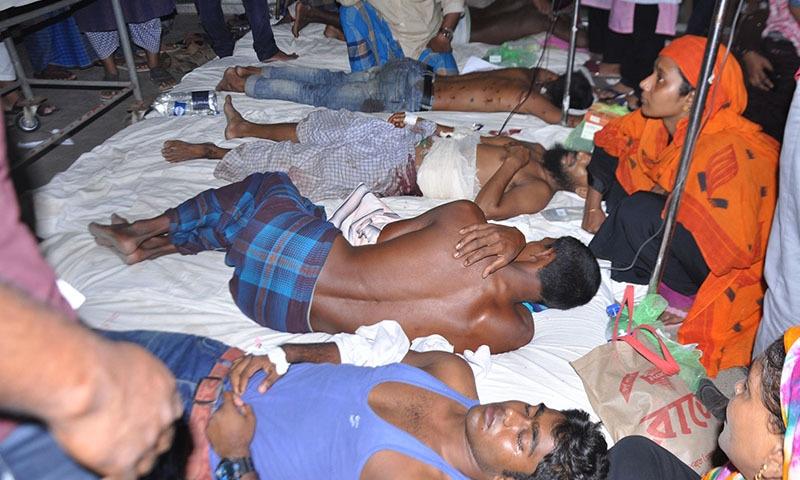 واقعے میں کم از کم 4 افراد ہلاک جبکہ 50 سے زائد زخمی ہوئے —تصویر: اے ایف پی