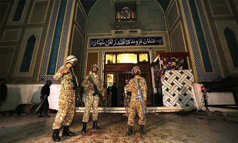ATC hears case pertaining to suicide attack on the shrine of Lal Shahbaz Qalandar in Sehwan. — APP/File
