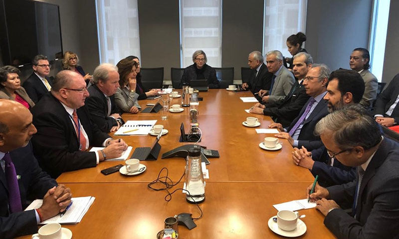 The Pakistani delegation meets with World Bank Managing Director (Operations). — Photo provided by author