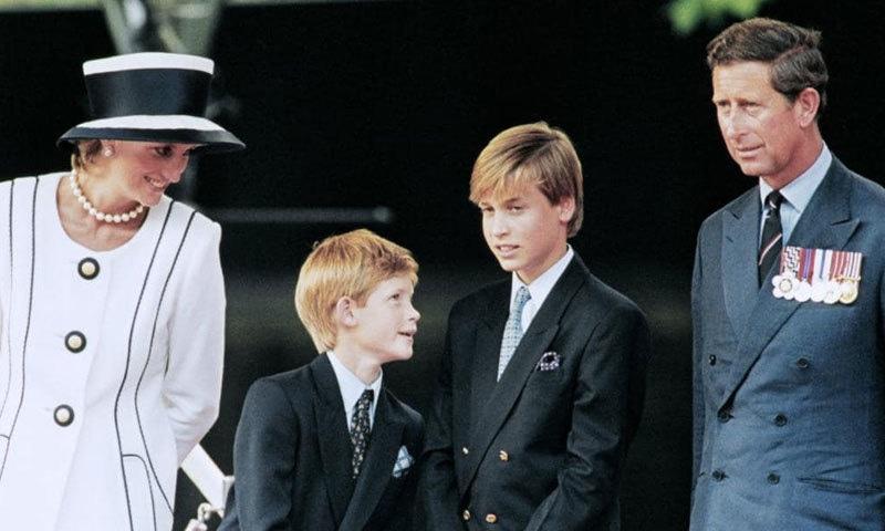 شہزادہ ولیم اور ہیری لیڈی ڈیانا اور شہزادہ چارلس کے بیٹے ہیں—فوٹو: اے ایف پی