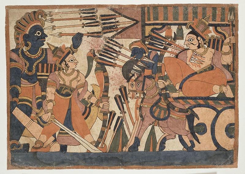 A scene from the Ramayana. Paris, musée Guimet - musée national des Arts asiatiques. MA2765.  — Richard Lambert