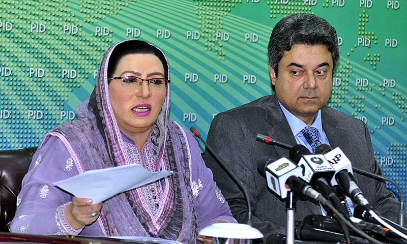 Briefing reporters after the cabinet meeting, Law Minister Barrister Farogh Naseem and Special Assistant to the Prime Minister Dr Firdous Ashiq Awan blamed the opposition parties for compelling the government to opt for presidential ordinances for legislation. — APP