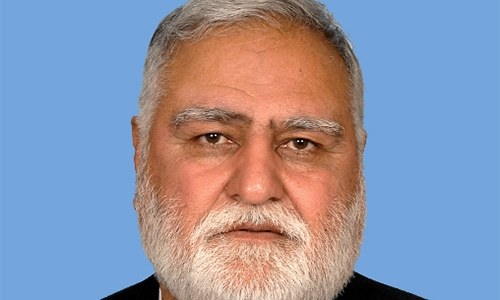 Former federal minister Akram Khan Durrani on Tuesday filed a petition before the Islamabad High Court (IHC) seeking pre-arrest bail in multiple inquiries initiated against him by the National Accountability Bureau (NAB). — Photo courtesy National Assembly website