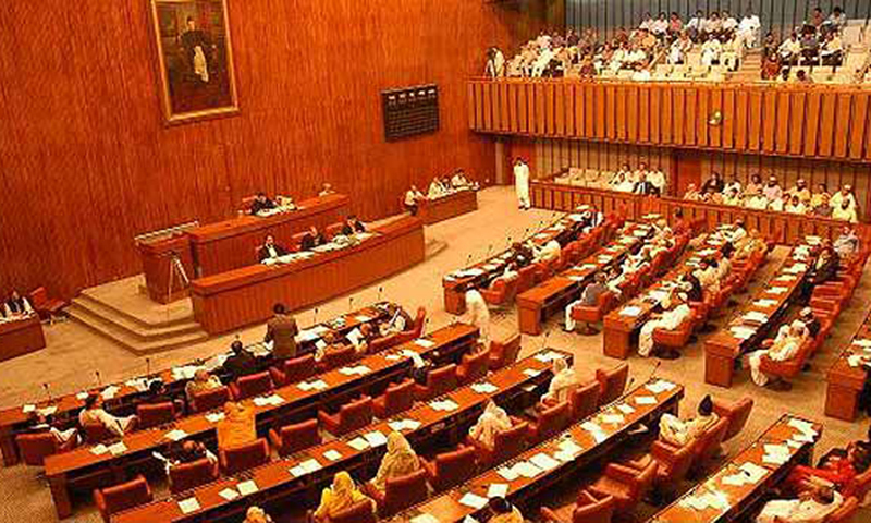Opposition members in the Senate Standing Committee on Information and Broadcasting walked out of the committee's meeting on Tuesday in protest against the attitude of its chairman Senator Faisal Javed and threatened to move a no-confidence motion against him. — APP/File