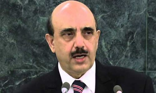 President of Azad and Jammu Kashmir (AJK) Sardar Masood Khan on Tuesday warned that India's aggressive posturing against Pakistan has raised the threat of a military conflict between the two nuclear-armed neighbours. — AFP/File