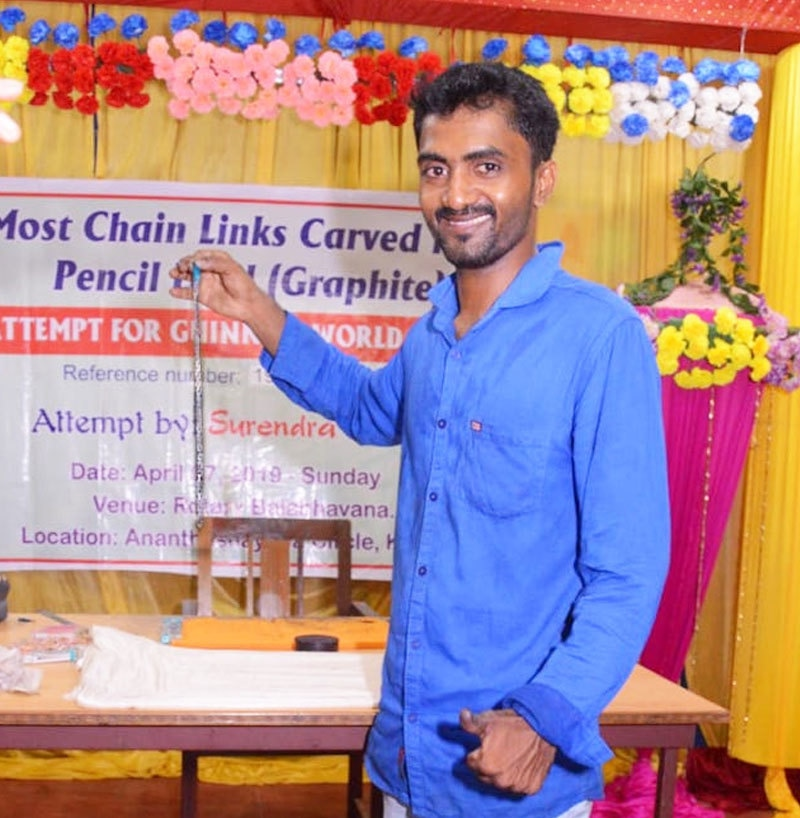 بھارتی نوجوان سریندرا نے ستمبر 2019 میں ریکارڈ بنایا تھا—فوٹو: دی نیوز منٹ