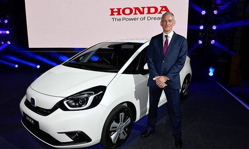 Senior Vice President Honda Motor Europe Tom Gardner gives an interview in Amsterdam on October 23. — AFP