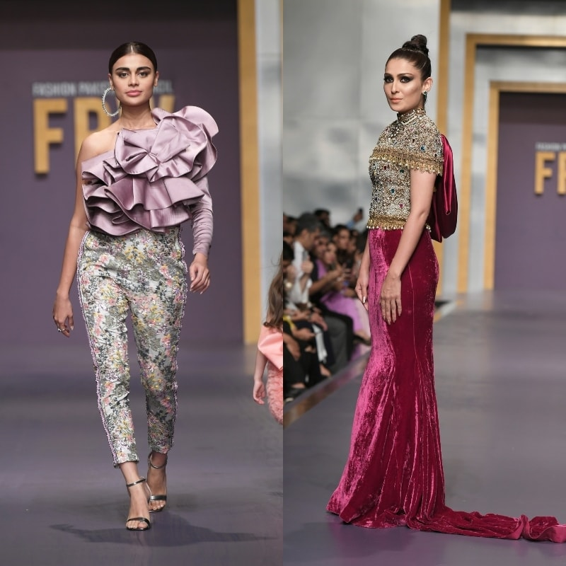 The showstopper, Ayeza Khan (right) deserved a showstopping outfit.