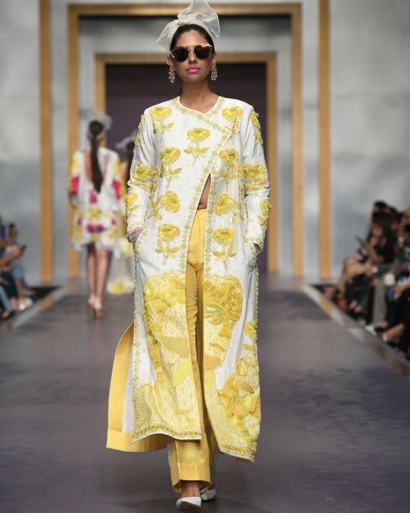 All this yellow is more fitting for a summer collection.