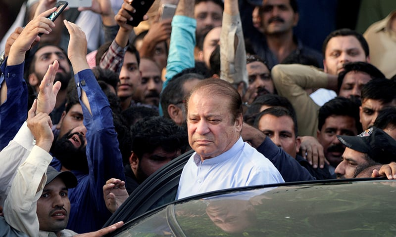 Former PM Nawaz Sharif is currently under treatment at Lahore's Services Hospital. — Reuters/File
