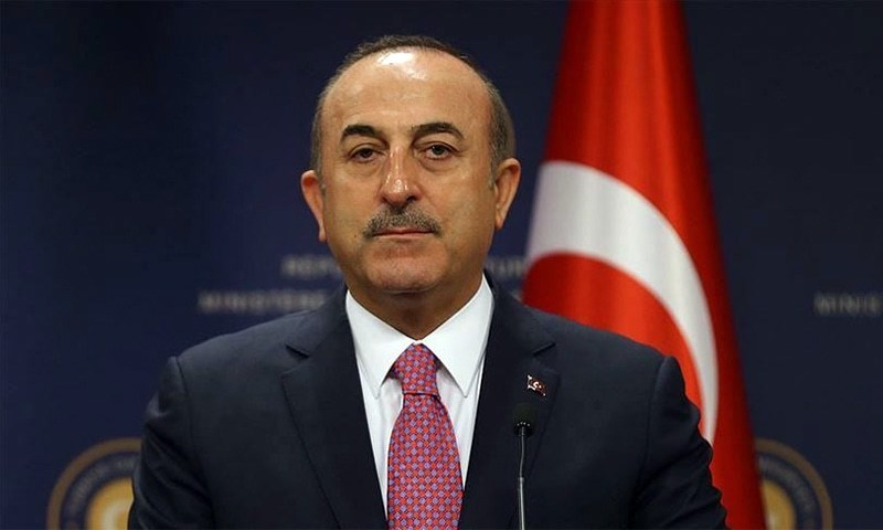 """If you start legitimising terrorists like this, tomorrow you will end up meeting with Baghdadi as well,"" says Turkish Foreign Minister Mevlut Cavusoglu.— File photo courtesy of Anadolu Agency"