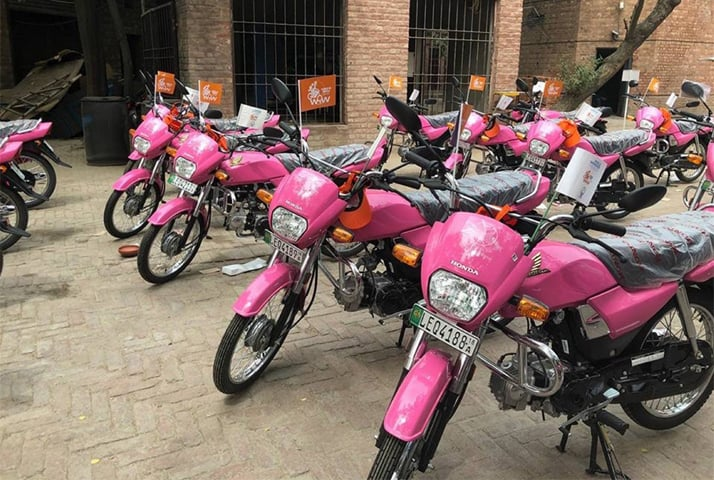 Honda Dream CD 70s were given out by Women on Wheels   Courtesy Salman Sufi