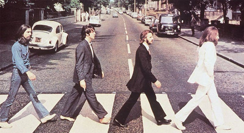 The iconic photograph of the Beatles, which appeared on the cover of their album Abbey Road, is a key plot point in Deborah Levy's novel | Creative Commons