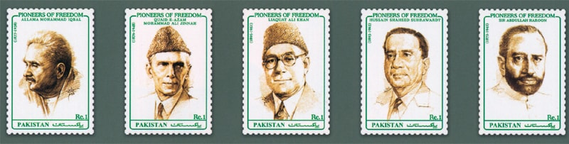 'Pioneers of Freedom' series, issued on August 14, 1990