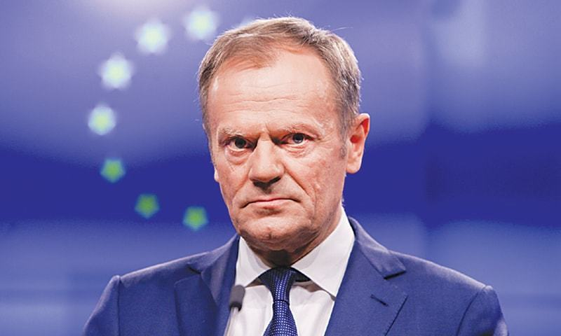 """The EU27 has agreed that it will accept the UK's request for a Brexit flextension until 31 January 2020,"" the president of the European Council Donald Tusk tweeted. — AFP/File"