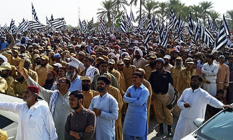 Supporters listen to opposition leaders in Sukkar, Monday, Oct. 28, 2019. — AP
