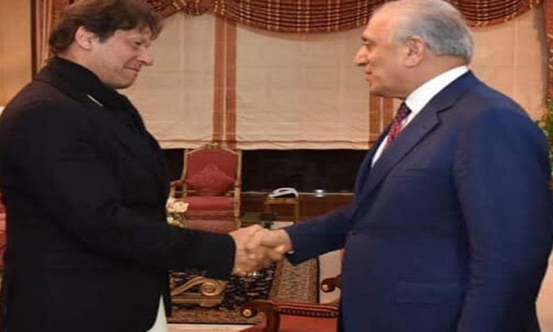 United States Special Envoy for Afghan Reconciliation Ambassador Zalmay Khalilzad called on Prime Minister Imran Khan on Monday as efforts for revival of peace negotiations between the US and Taliban gained momentum. — Photo courtesy Radio Pakistan