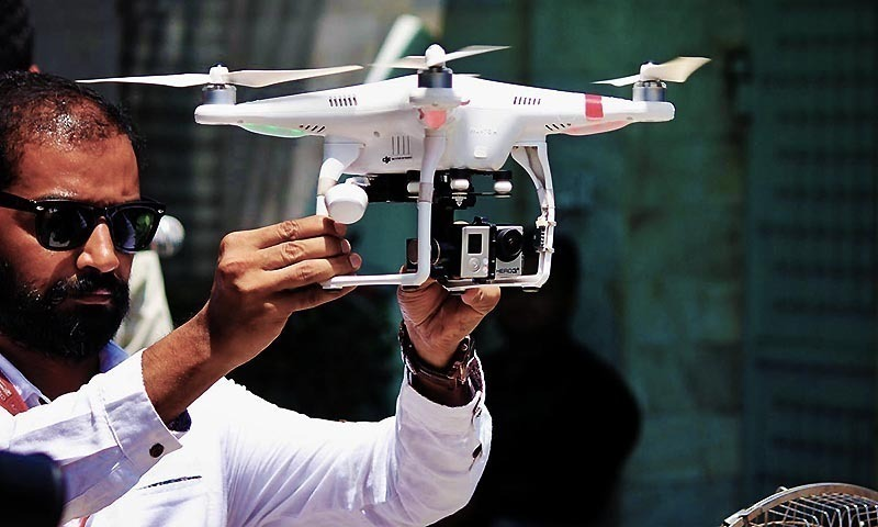 """Notification says drones pose a unique security threat to capital's """"precarious security situation"""". — AFP/File"""