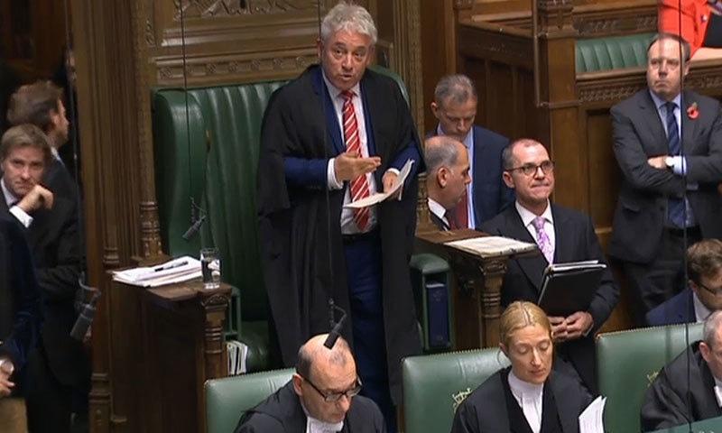 برطانوی پارلیمنٹ نے 12 دسمبر کو عام انتخابات کی منظوری دے دی—فوٹو:اے ایف پی
