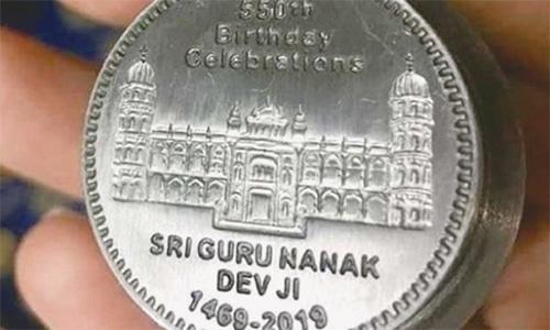 Coin issued to commemorate Guru Nanak's 550th birth anniversary