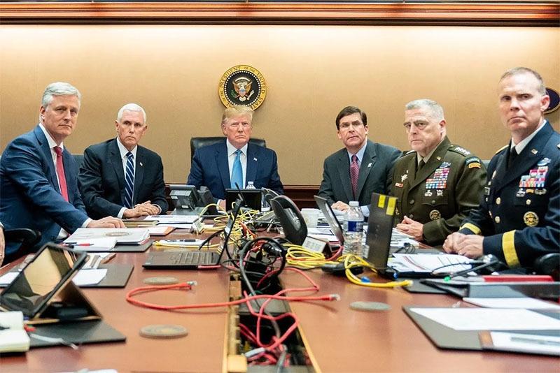 ٹرمپ اور ان کی ٹیم—تصویر وائٹ ہاؤس