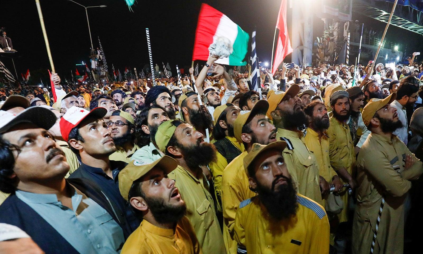 جلسے سے پشتونخوا ملی عوامی پارٹی کے سربراہ محمود خان اچکزئی نے بھی خطاب کیا—فوٹو:رائٹرز