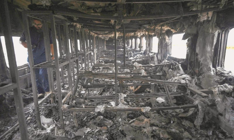 DNA tests planned to identify train fire victims