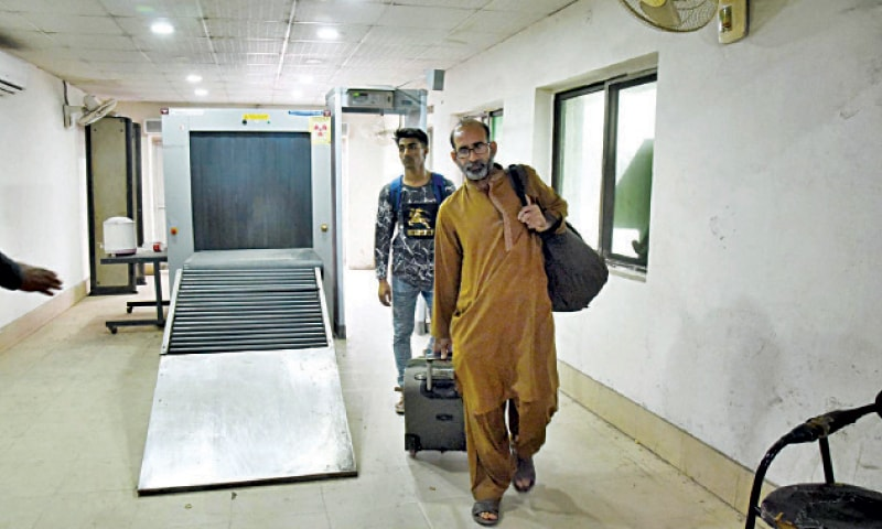 FAISALABAD: Luggage scanner at the local railway station is not in working order. Railways have scanners at some major stations across the country but most of them remain non-functional. — Online