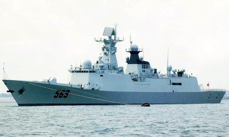 Steel-cutting of two navy warships held in China