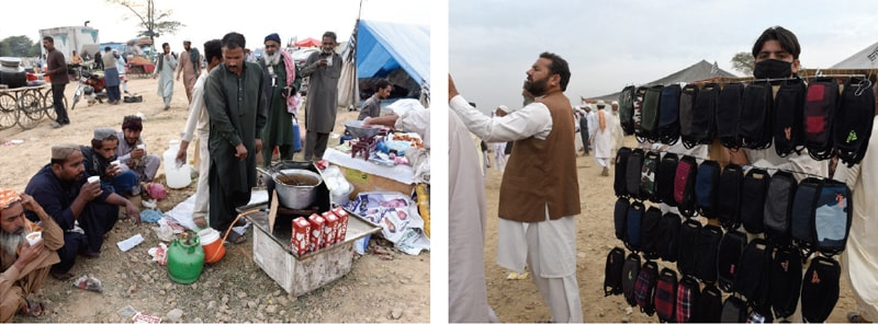 Small vendors see opportunity in Azadi March