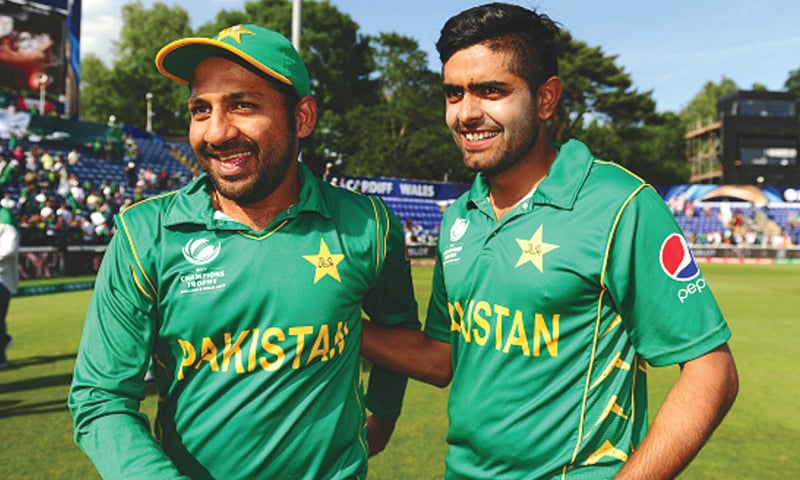 Babar Azam (right) faces tough T20 act after replacing Sarfraz Ahmed