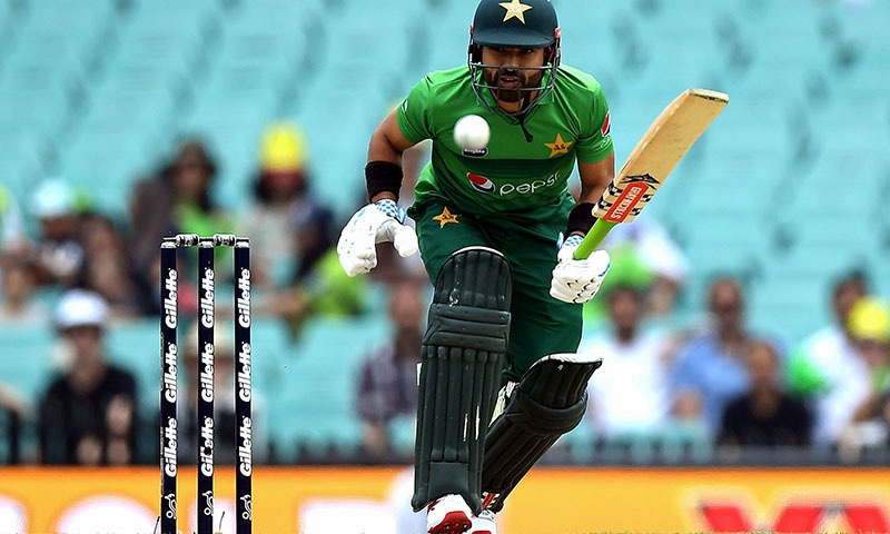 Muhammad Rizwan plays a shot during the Twenty20 cricket match between Australia and Pakistan at the Sydney Cricket Ground in Sydney on November 3. — AFP