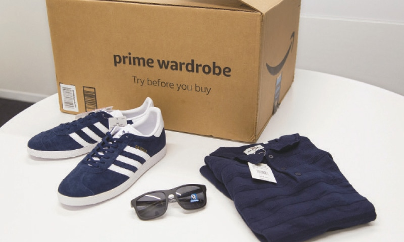 In this April 12, 2018, file photo, items ordered through Prime Wardrobe are displayed in New York. Services such as Stitch Fix and Amazon Prime Wardrobe have put  try-before-you-buy shopping on the map. The concept is simple: shoppers get apparel, accessories or other goods delivered to try, which they can either send back or purchase.—AP