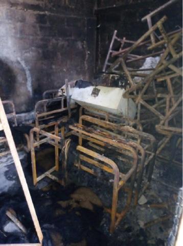 Fire destroys primary school in Balakot