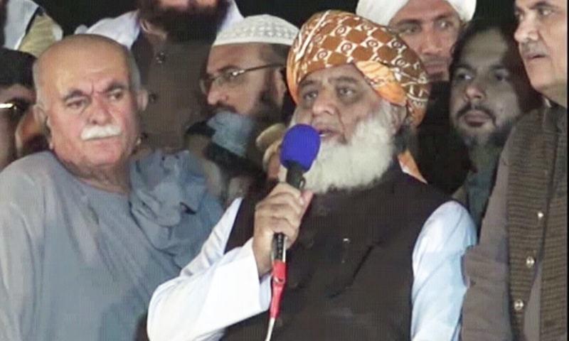 ہم پاکستان کو طاقتور دیکھا چاہتے ہیں، مولانا فضل الرحمٰن — فوٹو: ڈان نیوز