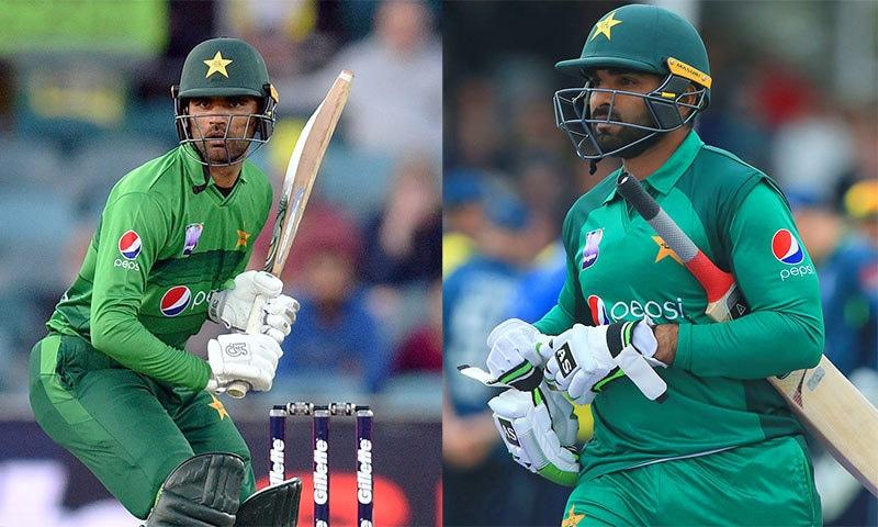 آصف علی اور فخر زمان کی مستقل ناکامیاں قومی ٹیم کے لیے درد سر بنتی جا رہی ہیں— فائل فوٹو: اے ایف پی