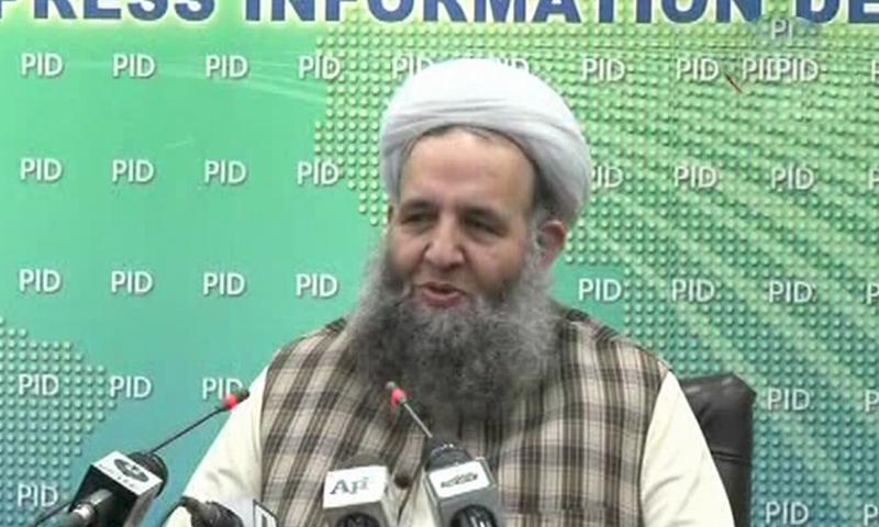 نور الحق قادری کے مطابق ریاست مدینہ عمران خان کی روح اور فکر پر سوار ہے — فوٹو: ڈان نیوز